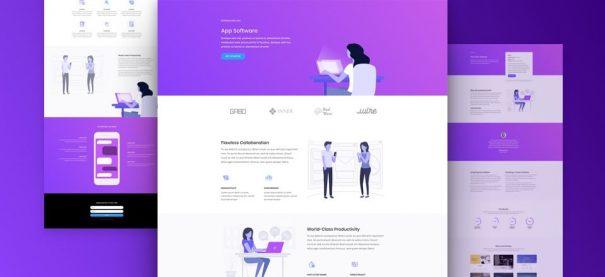 Software Marketing website