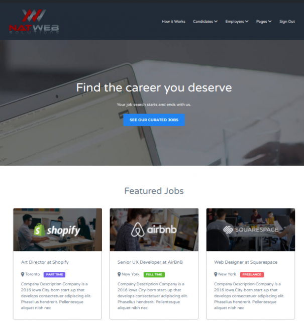 Professional Job Board by NatWeb Solutions