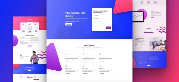 SEO company website by NatWeb Solutions